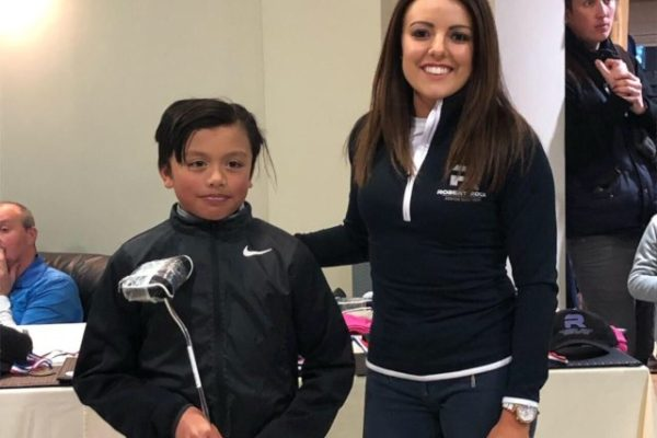 Under 14's winner Aiden Cuartero